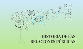 HISTORIA DE LAS RELACIONES PÚBLICAS