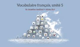 French Vocabulary, Unit 5