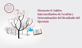Elemento 8: Saldos Intermediarios de Gestión y Determinación