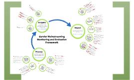 M&E Framework Gender Mainstreaming