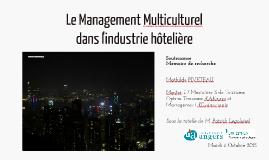Le Management Multiculturel dans l'industrie hôtelière