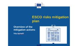 ESCO risks mitigation plan