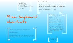 Prezi keyboard shortcuts