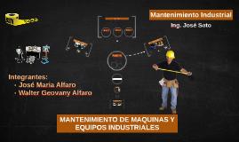 MANTENIMIENTO DE MAQUINAS Y EQUIPOS INDUSTRIALES