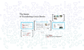 The Issues of Translating Comic Books