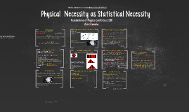 Physical Necessity as Statistical Necessity?