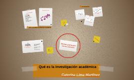 Qué es la investigación académica