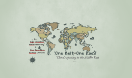 OBOR-'One Belt, One Road'