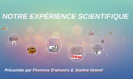 Notre expérience scientifique