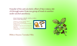 Anti-alcoholic effects of the Nux vomica 200 cH