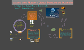 Copy of Chinese Inventions & Discoveries