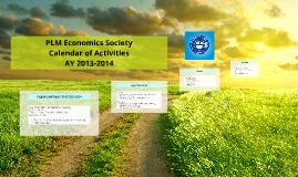 PLM EcoSoc Calendar of Activites 13-14
