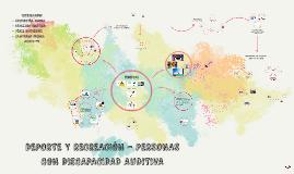 DEPORTE Y RECREACIÓN - PERSONAS CON DISCAPACIDAD AUDITIVA