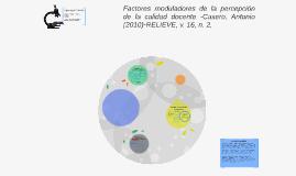 Factores moduladores de la percepción de la calidad docente