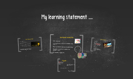 My learning statement ....