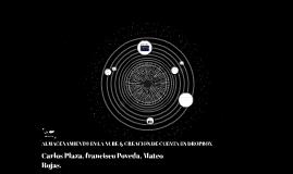 ALMACENAMIENTO EN LA NUBE & CREACION DE CUENTA EN DROPBOX