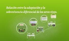 Relación entre la adaptación y la sobrevivencia diferencial