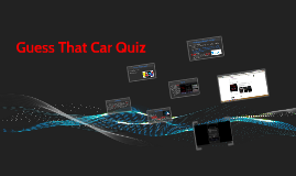 Guess That Car Quiz