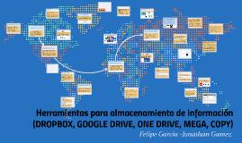 Copy of Herramientas para almacenamiento de informacion