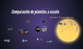 Comparación de planetas a escala
