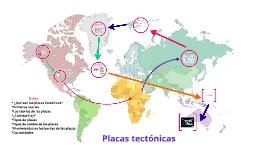 Copy of Placas tectónicas