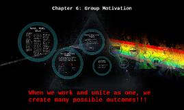 Chapter 6: Motivation