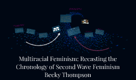 Copy of Multiracial Feminism: Recasting the Chronology of Second Wave Feminism Becky Thompson