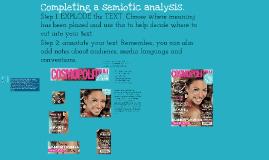 Introduction to semiotics 5 GCSE