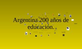 Educación argentina 200 años