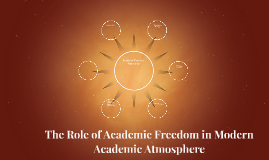 The Role of Academic Freedom in Modern Academic Atmosphere