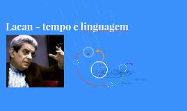 Tempo e Linguagem