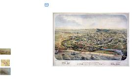 Bird's Eye View of Santa Cruz, 1870
