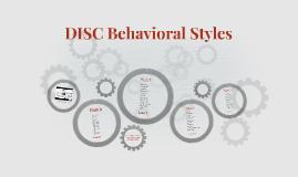 DISC Behavioral Principles