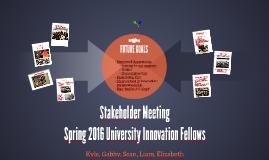 Stakeholder Meeting 2016