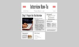 Interview How-To