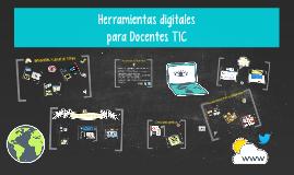 Herramientas digitales para Docentes TIC
