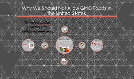 Stop the Use of GMOs in the United States