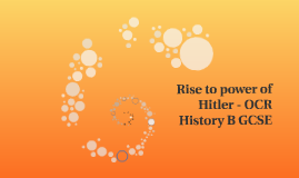 Rise to power of Hitler - OCR History B GCSE