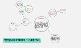 Copy of PROCESO ADMINISTRATIVO: ETAPA DIRECCIÓN