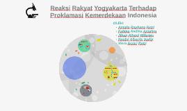 Reaksi Rakyat Yogyakarta Terhadap Proklamasi Kemerdekaan Ind