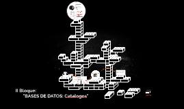 Base de datos: Catalogo