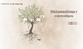 Micromachismo y estereotipos