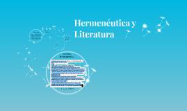 Hermenéutica y Literatura