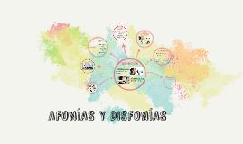 AFONÍAS Y DISFONÍAS