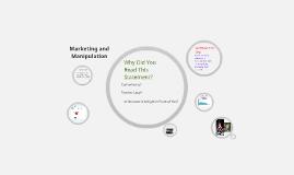 Marketing and Manipulation