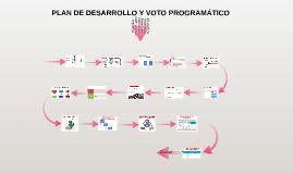 PLAN DE DESARROLLO Y VOTO PROGRAMÁTICO