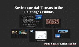 Environmental Threats to the Galapagos Islands