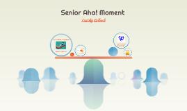Senior Aha! Moment