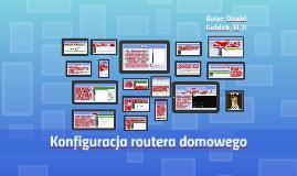 Konfiguracja routera domowego