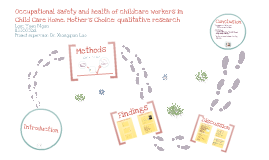 Copy of Occupational safety and health of child care workers in a child care setting